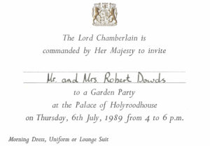 An Invitation from the Queen